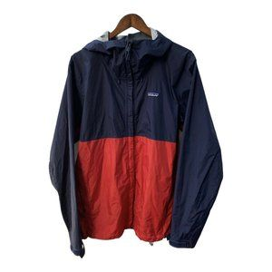 PATAGONIA Rain Jacket Hooded Mens Size Large L Red